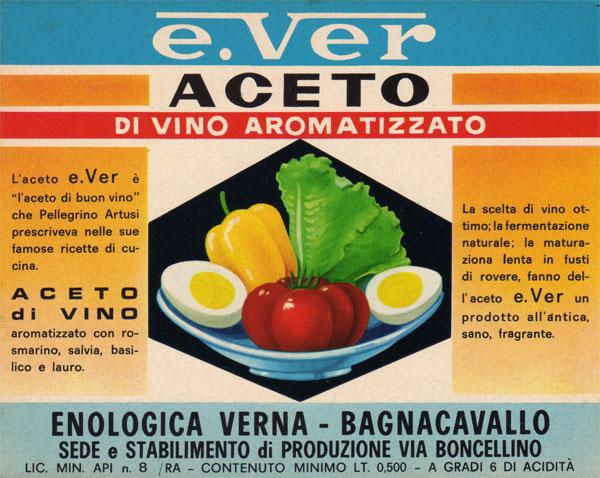 Etichetta storica - Acetificio Verna