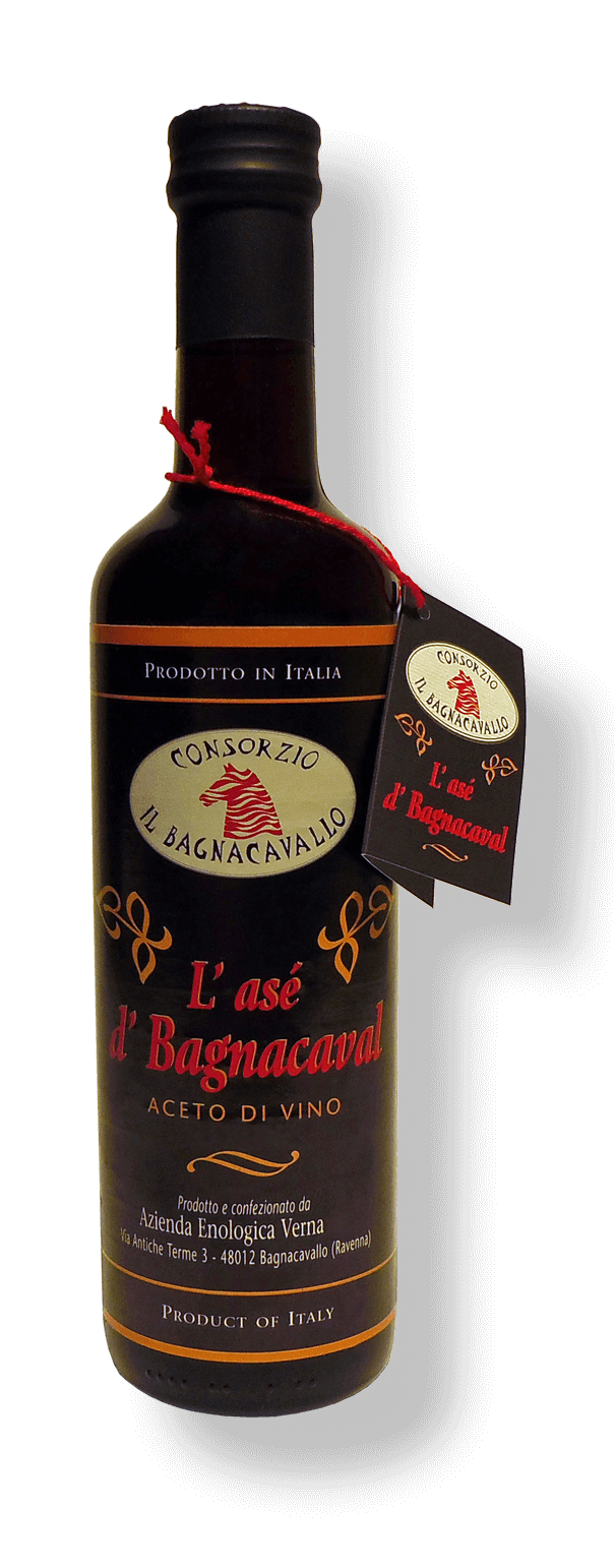 Aceto di Vino Rosso L'asé d'Bagnacaval - Consorzio Il Bagnacavallo - 500 ml